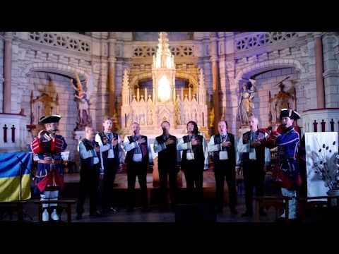 Ukraine national anthem - Fife and Drum Aunis Saintonge and ORPHEUS VOCAL GROUP