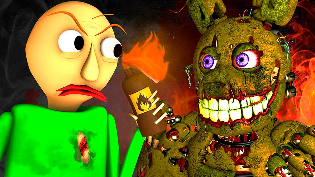 Baldi vs FNAF 5: Springtrap Final (Five Nights At Freddy's Horror 3D Animation) thumbnail