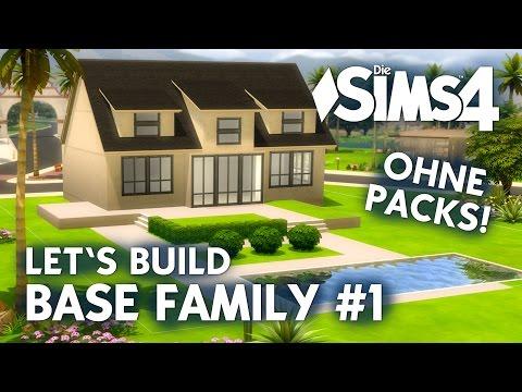 Die Sims 4 Haus bauen ohne Packs | Base Family #1: Grundriss (deutsch)