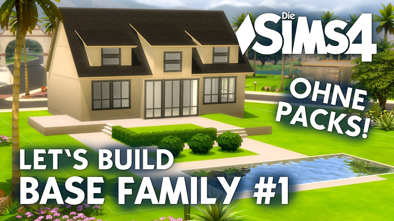 die sims 4 haus bauen ohne packs base family 1 grundriss deutsch youtube. Black Bedroom Furniture Sets. Home Design Ideas
