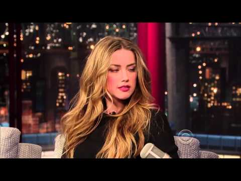 The full video of the interview with Amber Heard on the set of David Letterman