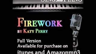 Firework - Katy Perry (Piano karaoke backing for cover version)
