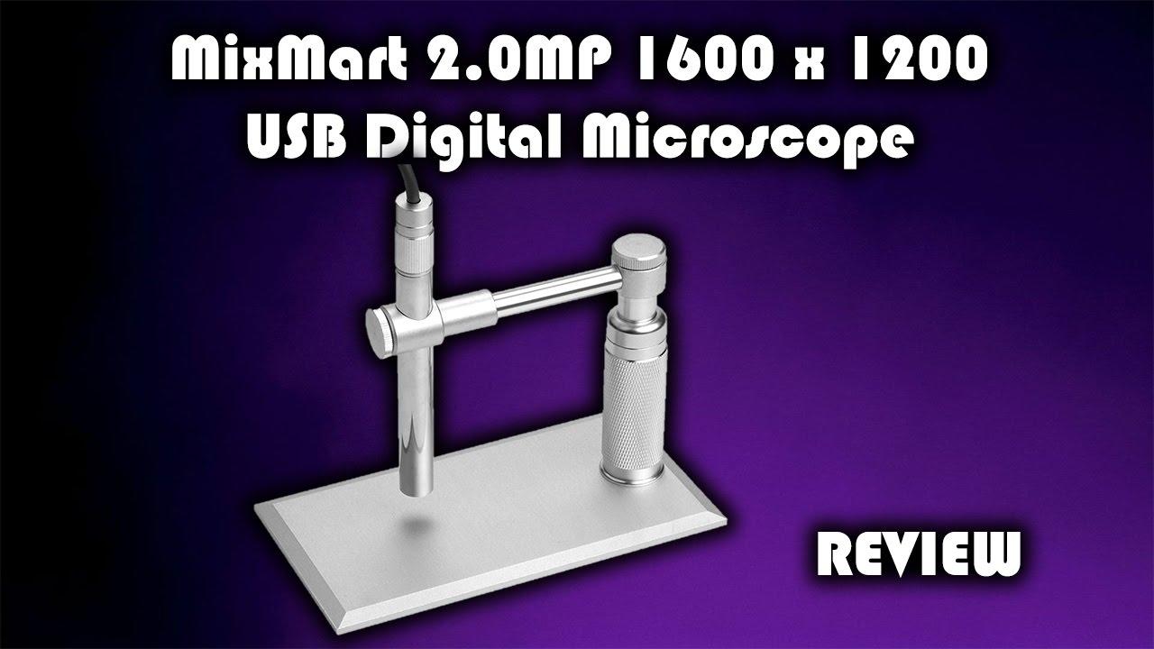 Mixmart 2.0mp 1600 x 1200 usb digital microscope review youtube