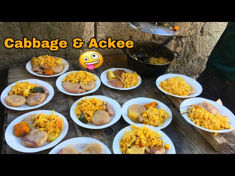 Kino & Friends Cook Cabbage & Ackee (Pt3) In Seaview Garden (Kingston 11)