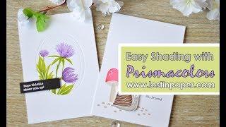 Ellen Hutson Guest Designer - Easy Shading with Prismacolor Pencils!