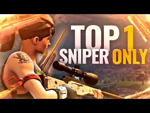 TOP 1 ► DÉFI : SNIPER ONLY !! (FORTNITE Battle Royale fr pc & ps4)