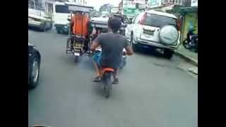 pocket bike 49cc walking around Calamba, Laguna PART 2