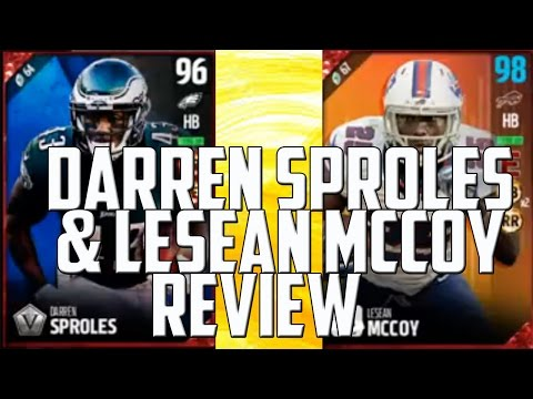 96 Darren Sproles and 97 LeSean McCoy Dual Review - MUT 17