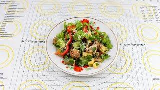 Теплый салат как в ресторане