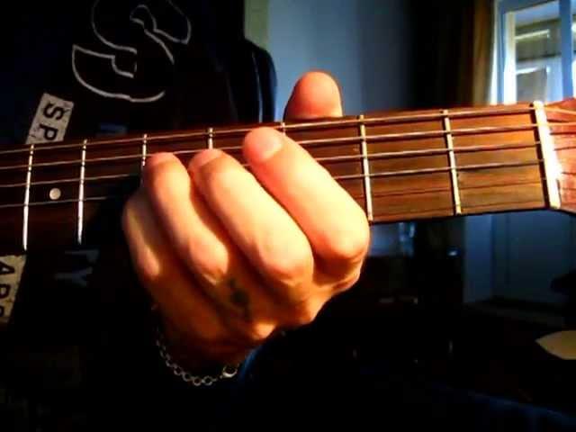 Как играть на гитаре аккорд Cm