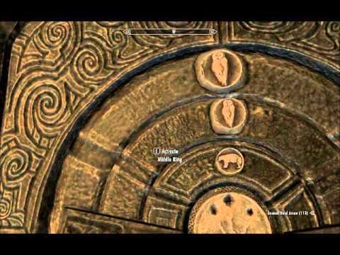 Bleak Falls Sanctum Dragon Claw Door combination watch at 2.0x