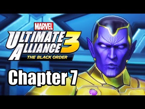 Marvel Ultimate Alliance 3: The Black Order - Gameplay Walkthrough Part 7 (Chapter 7) - 동영상