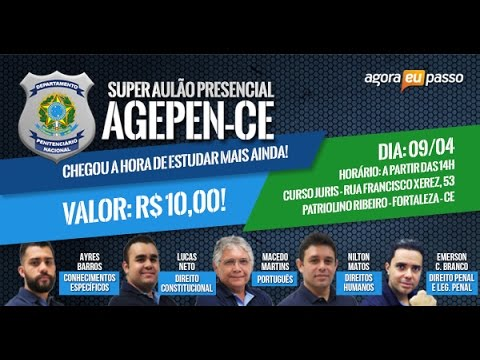 Super aulão AGEPEN/CE - Diretamente do presencial
