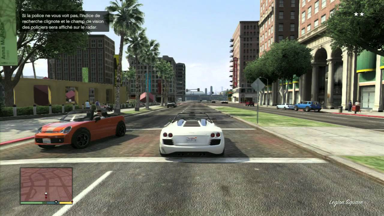 grand theft auto v course poursuite avec la police extrait de gameplay jeux vid o par. Black Bedroom Furniture Sets. Home Design Ideas