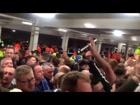 Newcastle 1 Leeds 1 - 14/4/17 - FT scenes part 2