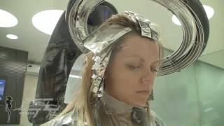 Двухцветное мелирование для блондинок