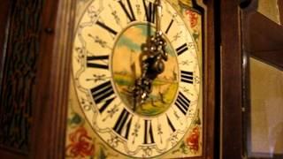 オランダ・ザーンダム時計 二本分銅 ムーンフェイズ付 1940~
