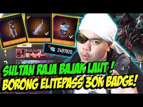 SULTAN BORONG ELITE PASS BAJAK LAUT TERBARU ABISIN 3JUTA DIAMONDS! - FREE FIRE INDONESIA