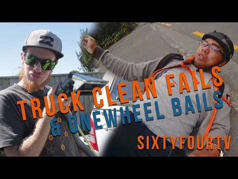 Truck Clean Fails and Onewheel Bails! | Sixtyfour Day Off Ep1