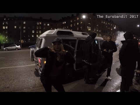 Christmas Car Cruise in Sweden (Lucia Crusing Stockholm 2017)
