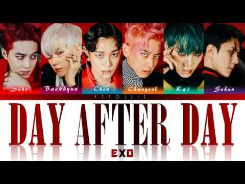 EXO - Day After Day 오늘도 [Color Coded Han   Rom   Eng Lyrics]