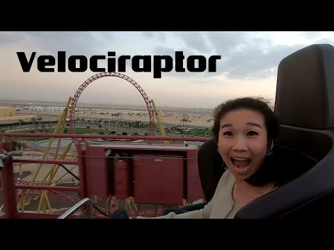 Velociraptor Roller Coaster at IMG Worlds of Adventure – Thrilling Adventures in Dubai UAE EP:2