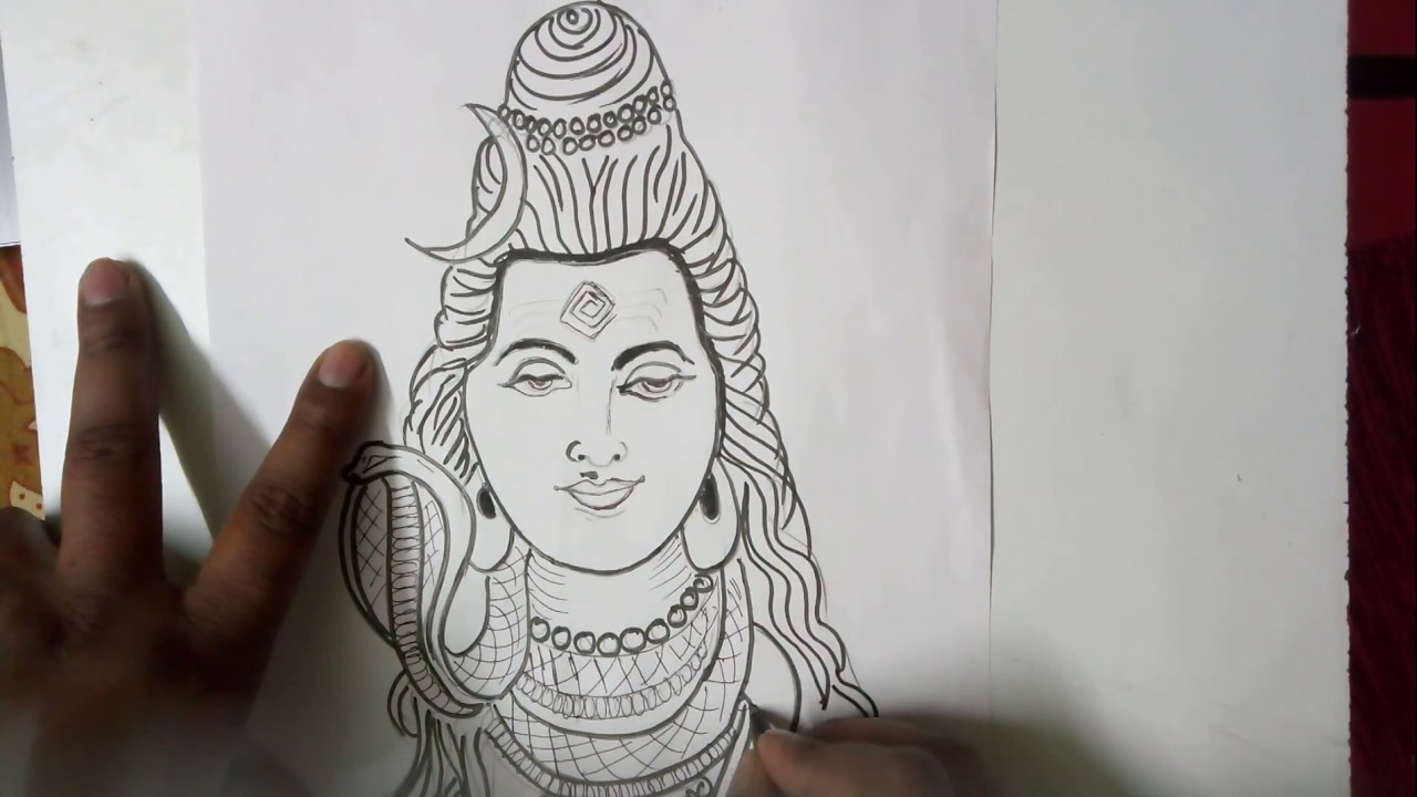 Learn how to sketch mahadev shiv sketch