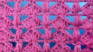Необычный Ажурный узор вязания крючком с пышными столбиками Openwork crochet stitch   116
