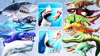 Hungry Shark Evolution vs World - All Sharks Info (Drago)
