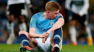 Kevin de bruyne knee injury \ Mancity vs Fulham match 01-11-2018