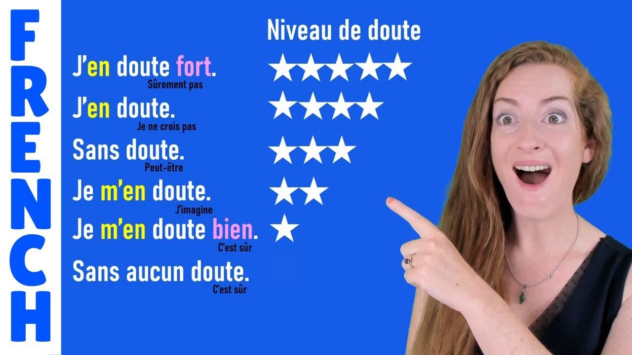 Douter Se Douter Sans Doute S En Douter Lecon De Francais Doubts And Uncertainty In French Youtube
