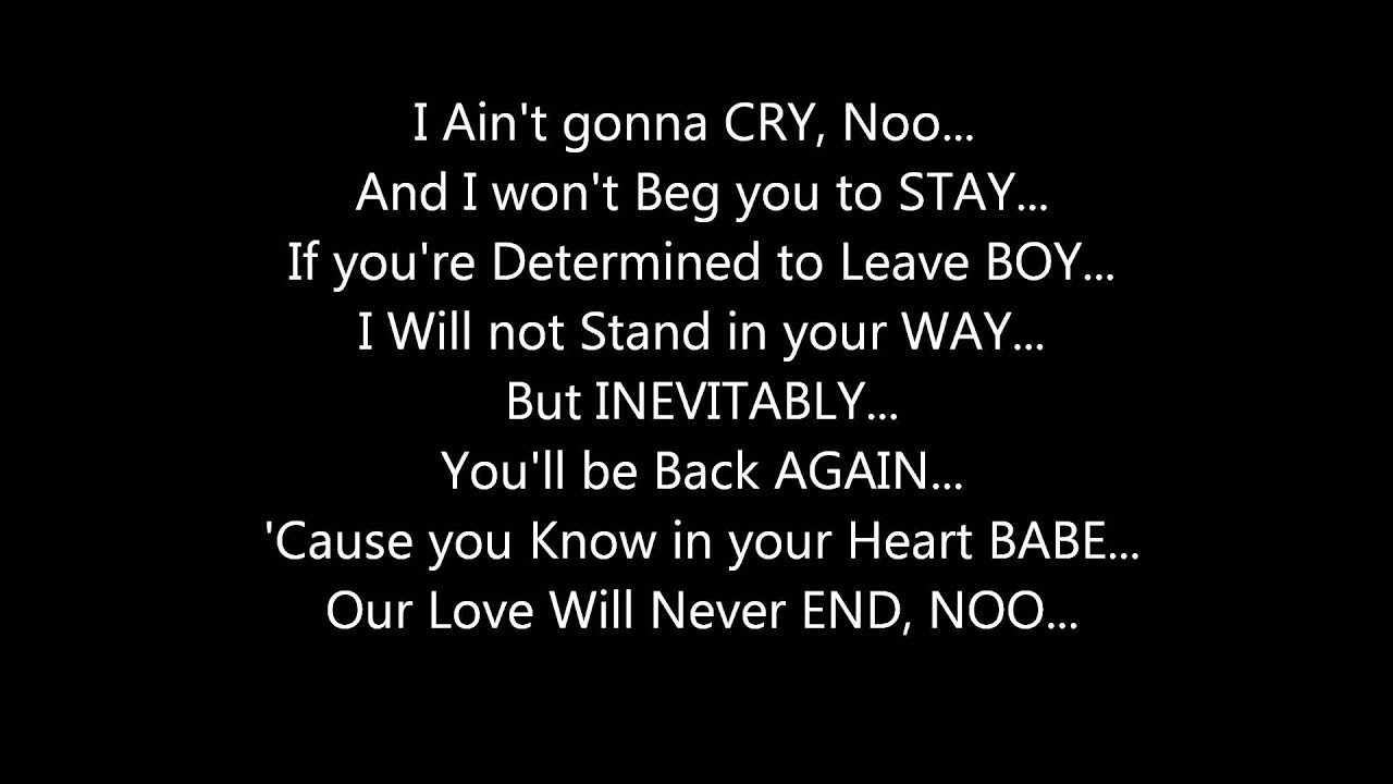 Mariah Carey - Always Be My Baby Lyrics | MetroLyrics