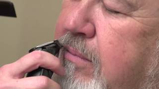 How To Trim Mens Beard and Eyebrows // Santa gets a trim