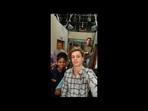 Jace Norman, Thomas Kuc / 10 April 2017 / filming Henry Danger/Game Shakers crossover