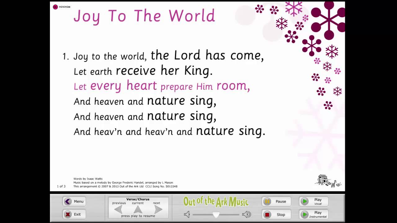 Joy To The World - Words on Screen™ Original - YouTube