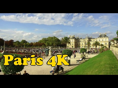 Walk around Paris France 4K. Montparnasse - Jardin du Luxembourg - Place Saint Michel.