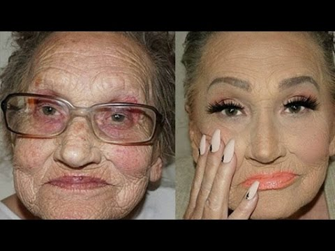 Croatian Makeup Artist Makes Her Beautiful Grandma Look Younger With Contouring