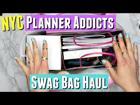 New York City Planner Addicts Meetup Event in Brooklyn SWAG BAG HAUL