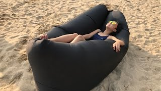 How to inflate the inflatable Air Lounger (Bean Bag / Lay Bag / Lazy Sack / Lazy Bag / Lazy bed)