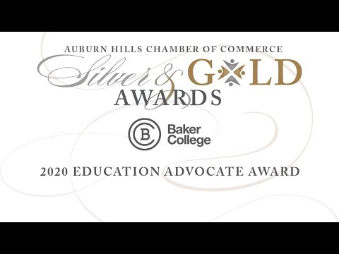 2020 Baker College of Auburn Hills Education Advocate Award
