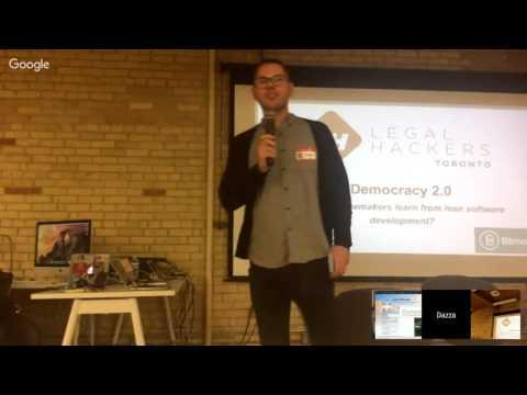 Legal Hackers, Toronto: Democracy 2.0