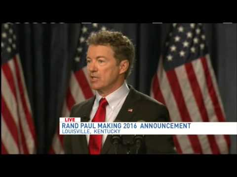 Rand Paul presidential announcement