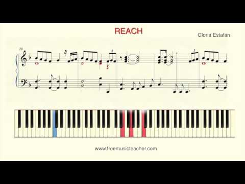 "How To Play Piano: ""Reach"" by Gloria Estefan"