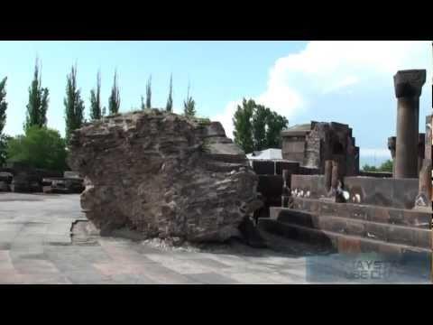 Zvartnots Cathedral In Armenia. Храм Звартноц в Армении.