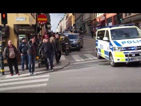 Sweden, Stockholm, virtual walk from Södersjukhuset to Slussen