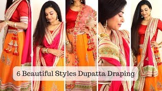 Download 6 Dupatta Draping Styles You MUST Try - How To Wear Lehenga Perfectly this Wedding Season Mp3 and Videos