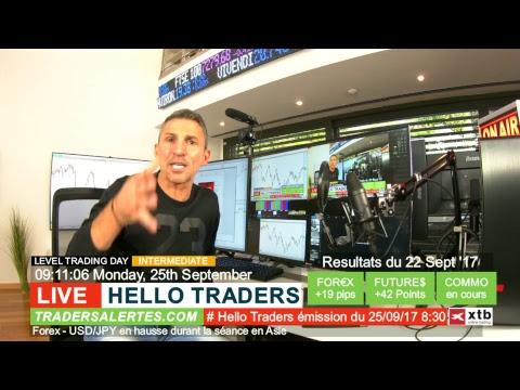 Emission Hello Traders du 25 Septembre 17