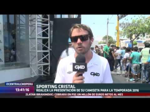 Central CMD: Sporting Cristal presentó su camiseta para el 2016