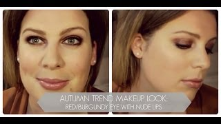 FALL TREND || RED / BURGUNDY SMOKEY EYE MAKEUP LOOK Thumbnail