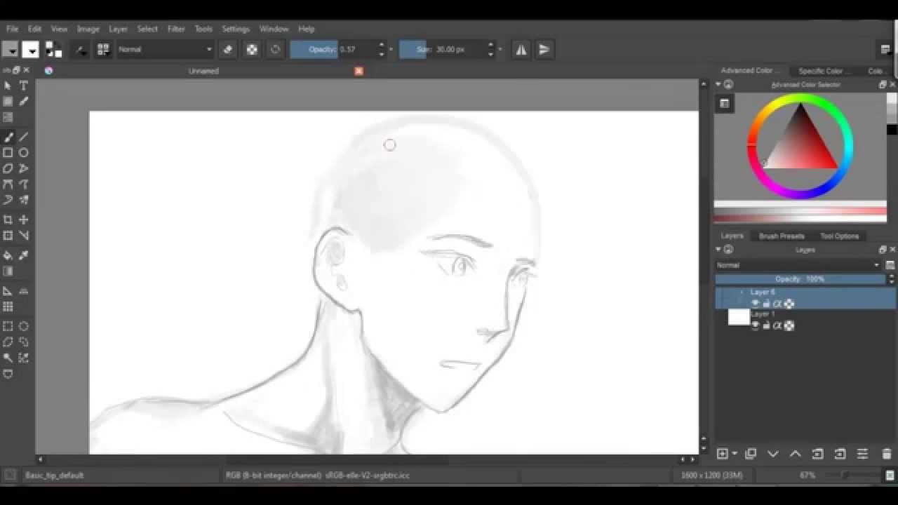 Krita Drawing Line Art : Random anime drawing on krita youtube
